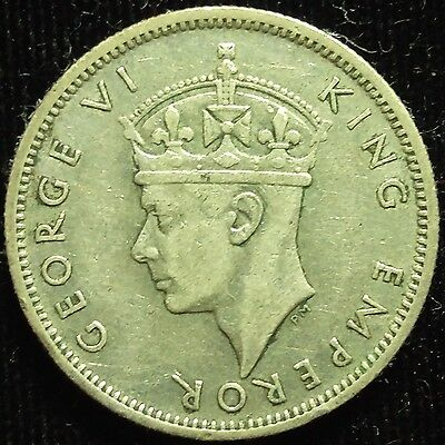 1939 Seychelles 1/2 Rupee Scare Date Coin VF #426