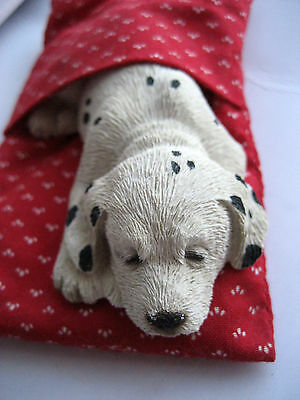 Vintage   1988  Dog Figurine SANDICAST LilSnoozers Dalmatian Puppy Collectible