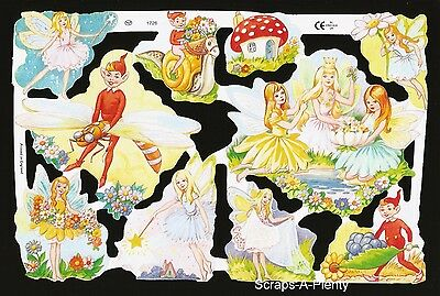 Die Cut Scrap Mamelok English Embossed - Petite Fairy / Fairies  TOO CUTE   1726