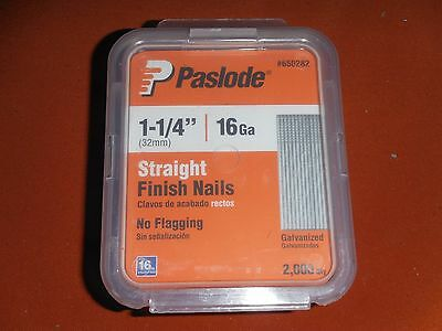 Paslode 1-1/4 inch by 16 Gauge Galvanized Straight Finish Nail (2000) 650282