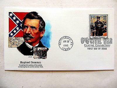 "June 29th, 1995 ""Raphael Semmes"" First Day Issue Civil War Collection"