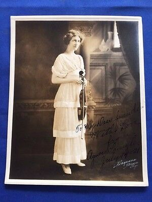 Photograph Of Classical Violinist Agnes Pringle - Inscribed By Agnes Pringle