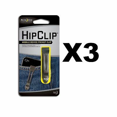 Nite Ize HipClip Lightweight Stainless Steel Universal Adhesive Clip (3-Pack)
