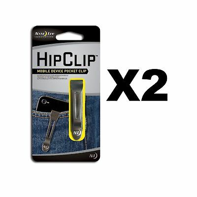 Nite Ize HipClip Lightweight Stainless Steel Universal Adhesive Clip (2-Pack)