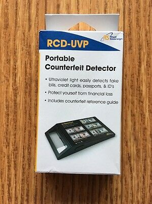 Royal Sovereign RCD-UVP Portable Ultraviolet Counterfeit Detector Bills Money