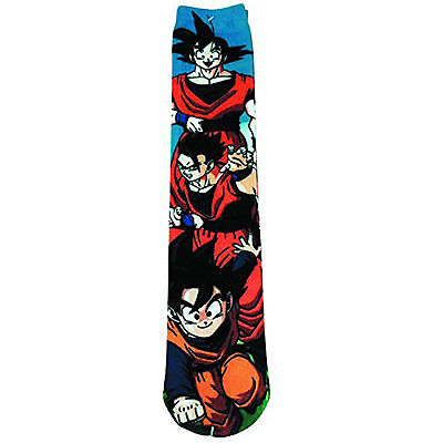 Dragon Ball Z 360 Goku`s Family Photoreal 1 Pair Of Socks NEW Clothing DBZ Anime
