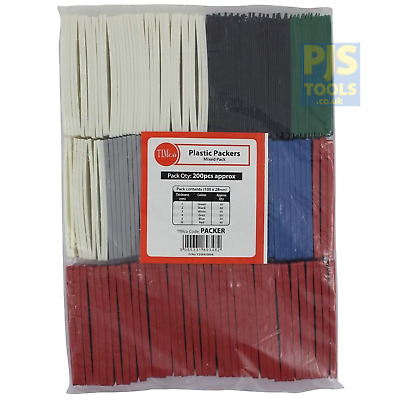 200 x Timco flat plastic packers window wedges & glazing packer spacers shims