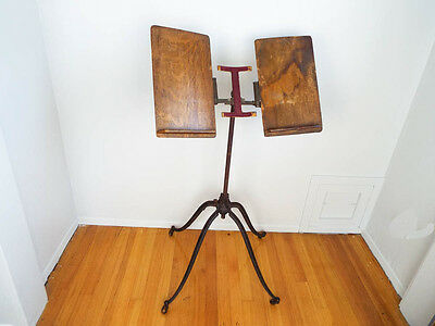 Antique Victorian Folding Music Stand 19th Century Adjustable Book Bible Holder
