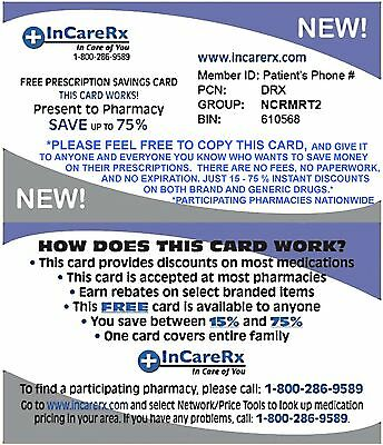 DISCOUNTS Prescriptions - YOUR Pharmacy - No $ CARD INSTANT ACCESS!! NO $ Needed
