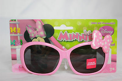 Disney Minnie Mouse Girls Sunglasses 100% UV Protection Kids Childrens Cute Pink