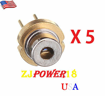 5 Pieces 808nm 300mW 5.6mm TO18 High Power Burning Infrared IR Laser Diode
