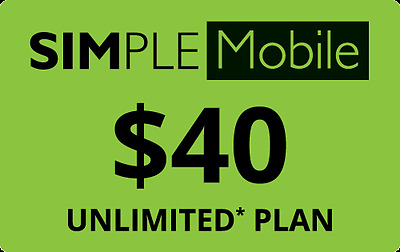 Simple Mobile $40/Month Refill -- Unlimited Talk/Text/Data With 4GB of 4G/LTE