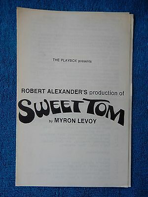 Sweet Tom - Playbox Theatre Playbill - 1970 - Stan Edelman - Joey Hunter