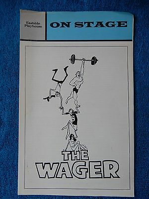 The Wager - Eastside Playhouse Theatre Playbill - 1974 - John Heard - Tabori