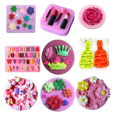 Crown Mold Form Candy Cake Pastry Fondant Decorating DIY Silicone Moulds 28style