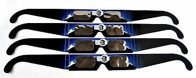 100% Safe Solar Eclipse Viewing Glasses - 4 pairs - Free shipping from US seller