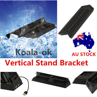 Vertical Cooling Fan Cooler Stand With Dual Charging Station For PS4 Slim gfs