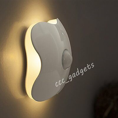 Wireless Battery Operated Auto Light Sensor LED Night Lamp Baby Kid Bedroom Wall