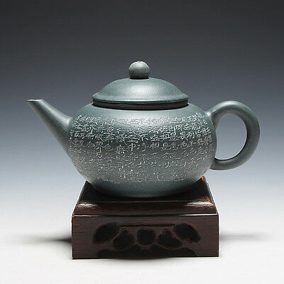 5000friend-China Yixing Old 1st Zisha Factory Unused 180cc ShuiPing Teapot,1970'