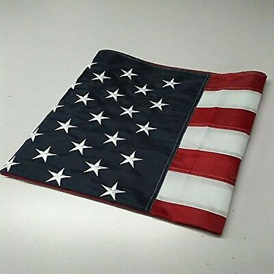 US American Flag Stripes Grommets Nylon Heavy Duty Embroidered Stars Sewn 3x5 ft