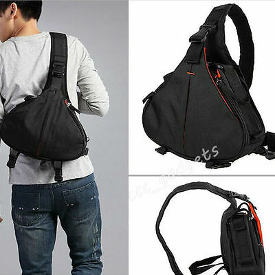 Waterproof Camera Digital DSLR Lens Bag Sling Shoulder Case For Nikon Canon Sony