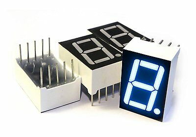 microtivity IS132 7-segment LED Display, 1 Digit Blue Common Anode Pack of 4