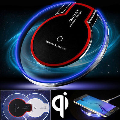 QI Wireless Charger Charging Pad Mat Receiver Fr iPhone X 7 Plus 8 Samsung S8