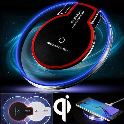 QI Wireless fast Charger Charging Pad Mat Receiver For iPhone 7 Plus Samsung S8