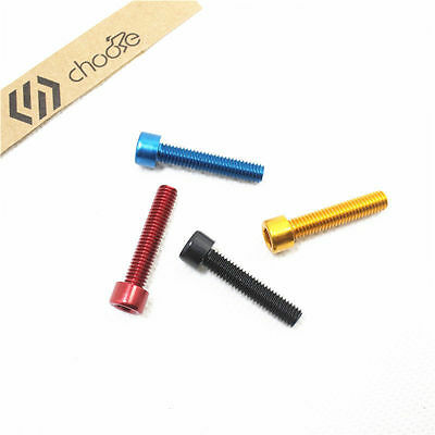"""1-1/8"""" Road Bike Bicycle Headset Top Cap Spacer Bolt M6*30mm,Red,Blue,Black,Gold"""