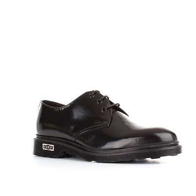 Cult Cle103000 Scarpa Uomo Ozzy Low 1236 In Pelle Spazzolata Nera