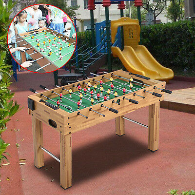 4FT Deluxe Football Table Soccer Game Indoor Arcade Family Sports Natural