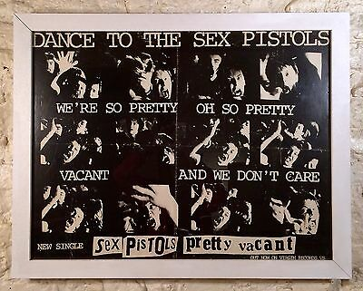 SEX PISTOLS  -pretty vacant- 1977 Promotional Poster (UK)