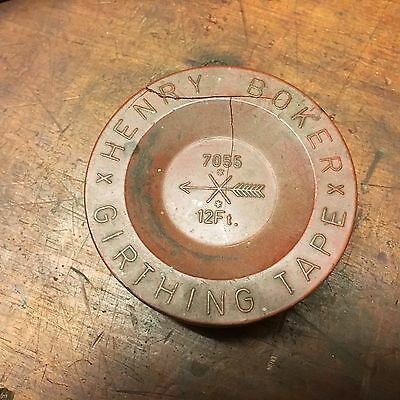 Vintage Henry Boker 12' Girthing Tape Replacement in Original Bakelite Box