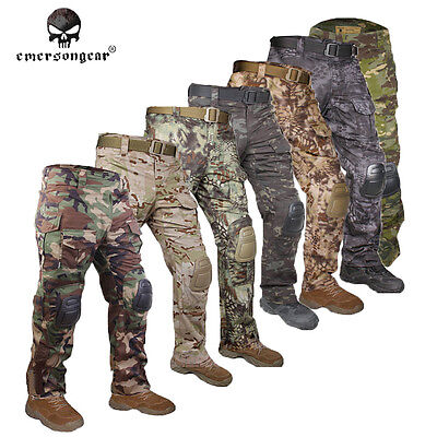 EMERSON G3 Combat Pants w/ Knee Pads Paintball Airsoft Hunting Trousers Gear