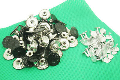 17mm Metal suspender buttons & Pins For Leather Bag Denim Jeans backpack pants
