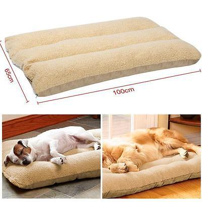Extra Large Warm Soft Fleece Puppy Pets Dog Cat Bed Cushion Pillow Mat 100x65cm