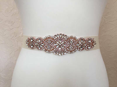 Rose gold wedding belt,rose gold bridal belt, rose gold bridal sash beaded sash