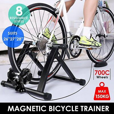 Foldable Indoor Magnetic Bike Bicycle Turbo Trainer Stand Exercise Training