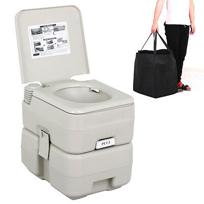 20L Portable Travel Camping Toilet Flush Mobile Pump WC Outdoor Indoor