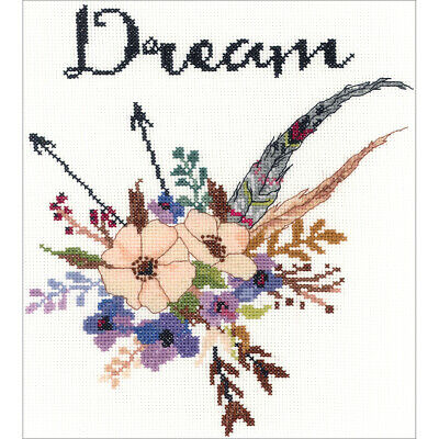 "Janlynn Watercolor Flowers Dream Counted Cross Stitch Kit-10""X10"" 14 Count"
