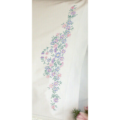 """Dimensions Stamped Embroidery Pillowcase Pair 20""""X30""""-Wildflowers"""