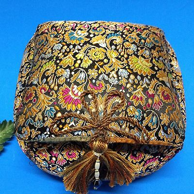 Brocaded Trinket Box -  Handcrafted, Padded & with Satin Lining 14 x 14 x 10 cm