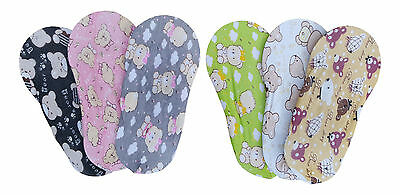 CHEX Secret Socks Childrens Girls Bears Foot Liners Ballerina Footsie 3 - 6 Yrs