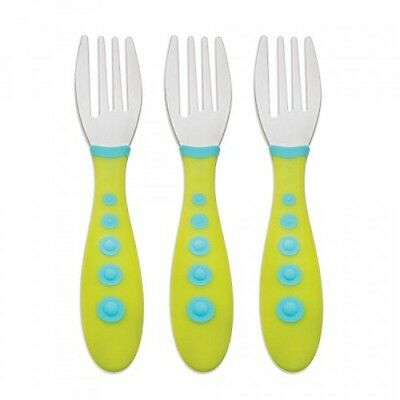 Gerber Graduates Kiddy Cutlery Forks in Neutral Colors, 3count
