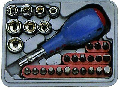 Driver Bit Set 29 Piece. Phillips, Slotted, Pozi, Torx, Hex, Sockets