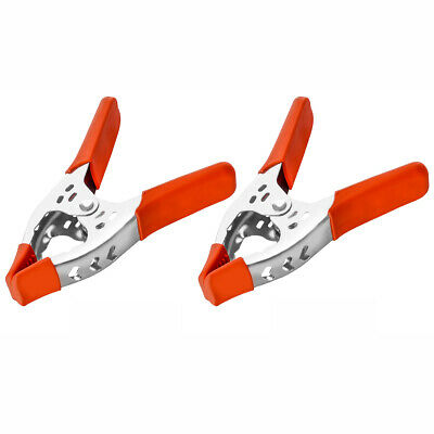 """2 Pack 6"""" Inch Clamp Large Heavy Duty Spring Metal 3 Inch Jaw Opening"""