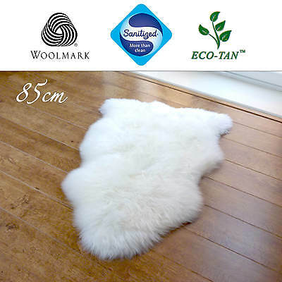 New 85cm Ultra Fleece Single Sheepskin Rug Eco-Tan Sanitized Australian Lambskin