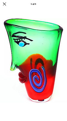 Huge Multi Coloured Abstract Picasso Style Face Vase