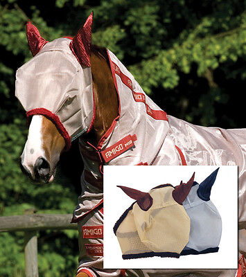 Horseware Amigo Rambo Fly Mask with Ears - Horse Comfort Adjustable - SALE