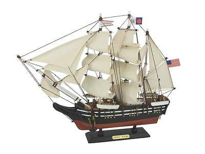 "Charles W. Morgan Whaling Tall Ship  15"" Built Wooden Model Boat  Assembled"